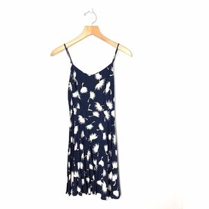 Old Navy Sun Dress Navy White Floral Fit n Flare S